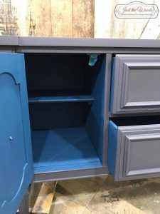 pop-of-color-inside, miner blue, pure home paint, chalk paint
