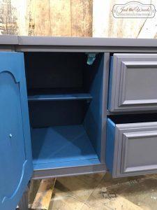 pop-of-color-inside, miner blue, pure home paint, chalk paint