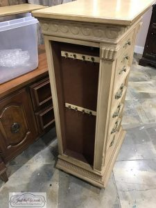 painted jewelry chest, jewelry armoire, unfinished jewelry stand, staten island