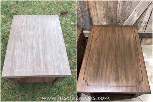 stain-on-veneer, teak wood stain, pure home paint, kristi kuehl, non toxic paint, stain on veneer