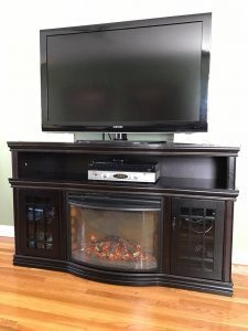 unfinished-tv-stand, media console, home depot, electric fireplace, staten island, new york