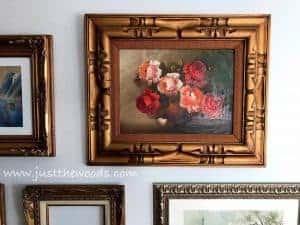 vintage-art, vintage paining, gallery wall