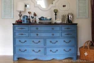 artsychicks-rule-blue-dresser, blue painted dresser, blue furniture