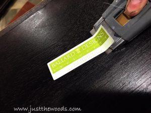 ballard-designs, remove sticker, painted furniture, staten island, new york