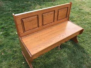 bench-with-seat-storage, storage bench, bench with storage, wood bench, painted wooden bench