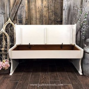 bench-with-storage, painted bench, painted bench ideas, wooden bench, farmhouse table bench