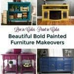 Beautiful Bold Painted Furniture Makeovers
