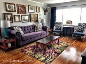 Bold Colorful Room, Bursting With Color Living Room Makeover, Just The Woods Part 74