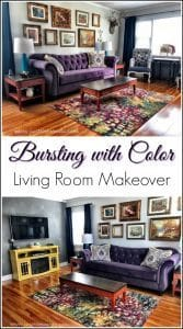 bursting-with-color-living-room, living room makeover