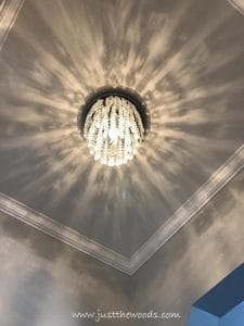 chandelier-and-crown-molding, crystal chandelier, light fixture