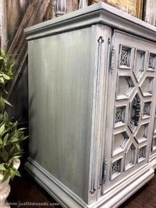 cream-and-white-painted-furniture, dry brushed layers, painted furniture, vintage furniture, buffet,
