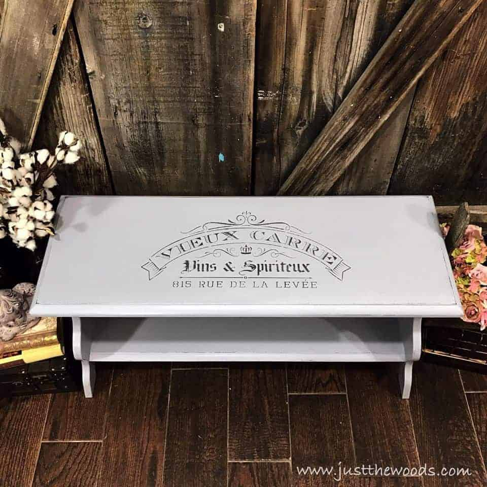 Painted Bench With French Stencil By Just The Woods