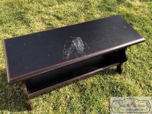 damaged-bench-top, ballard designs bench, wood bench, painted furniture, staten island
