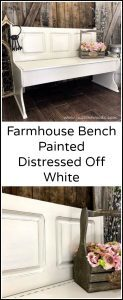 distressed-off-white, farmhouse, painted bench, chalk paint