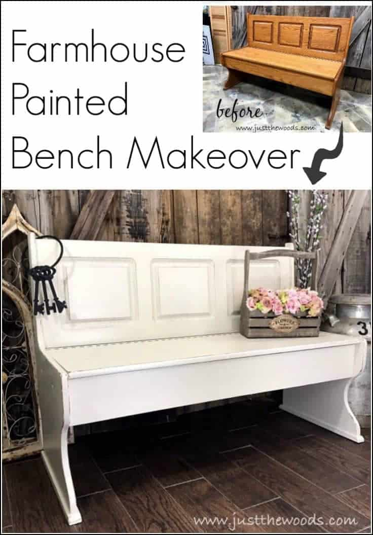 Farmhouse Painted Bench with Storage, painted bench, farmhouse bench, painted benches