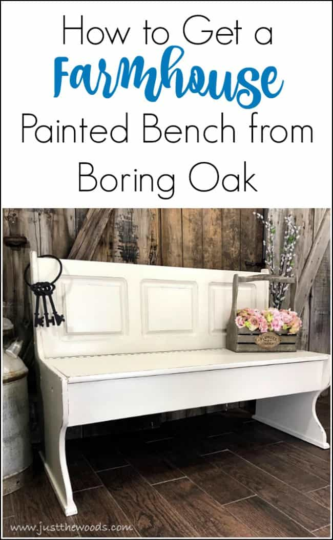 How to Get a Farmhouse Painted Bench from Boring Oak, painted bench ideas, painted benches