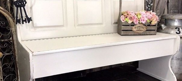 farmhouse-style-off-white-painted-bench