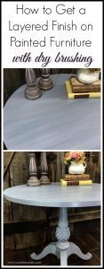 layered-finish-painted-furniture, dry brush, painted table