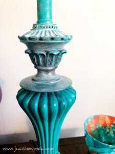 layered-painted-lamps, how to paint lamps, painted lamps