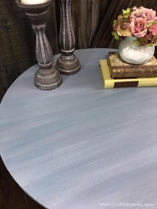 layered-painted-table, dry brush, how to dry brush paint, painted layers, chalk paint