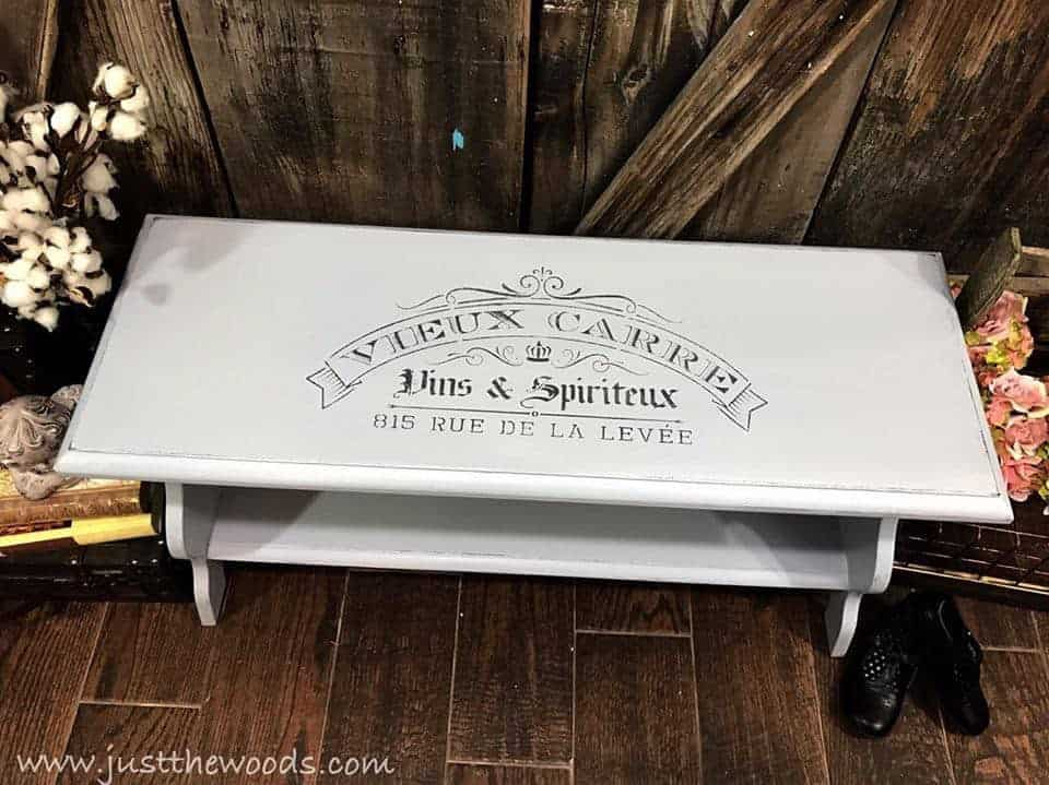 french stencil bench, Build your own bench, upcycle an old headboard, repurposed a door into a bench, painted furniture this collection of repurposed, upcycled & DIY benches has it all.