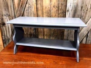painted-slate-first, pure home paint, gray paint, chalk paint, french bench, french stencil