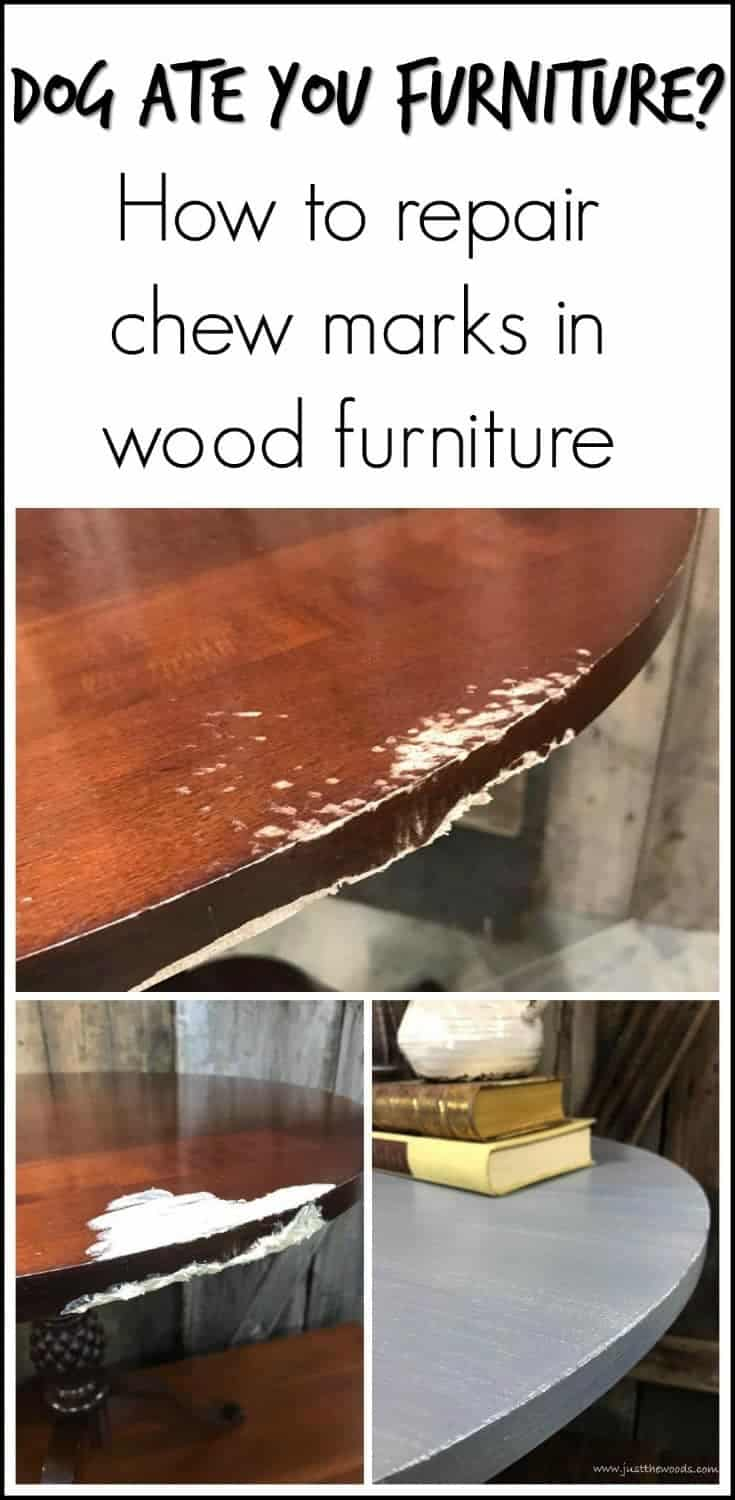 A painted pineapple pedestal table makeover, including repairing a chewed and damaged portion of wood. Painted furniture, accent table, layers of grays