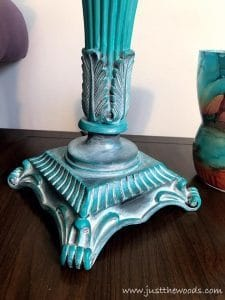painted lamps, how to paint lamps, chalk painted lamps