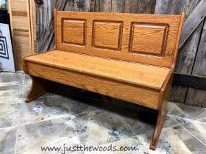 unfinished-wood-storage-bench, painted bench, painted furniture, farmhouse, wooden storage bench
