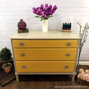 vintage-dresser-painted, painted furniture, painted dresser, yellow painted dresser