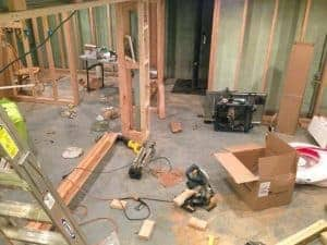 Concrete to Complete - a basement remodel by Just the Woods