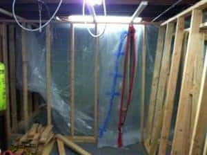 taped-to-add-plumbing, how to build a bathroom
