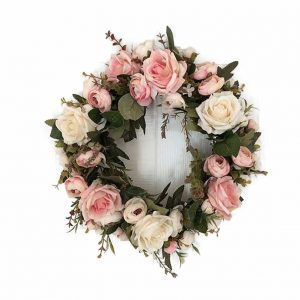 pink-peonies-door-wreath, door decor, floral wreath, staten island