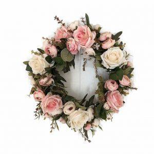 pink-peonies-door-wreath, door decor, floral wreath, staten island