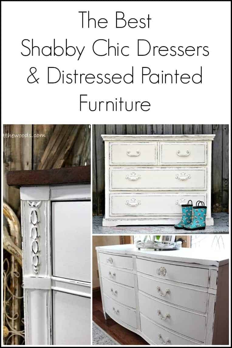 The best shabby chic dressers and distressed painted furniture makeovers from a few top bloggers. Want to know how to paint a dresser shabby chic or how to distress white painted furniture - check these out.