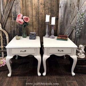 chalk-painted-end-tables, painted furniture, staten island, shabby chic