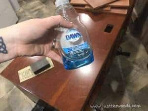 dawn-soap, how to clean furniture, prep painted furniture