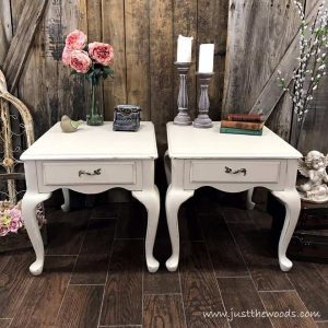 dixie-belle-painted-end-tables, painted furniture, queen anne, chalk paint