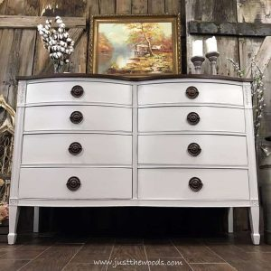 Farmhouse White Painted Dresser Staten Island