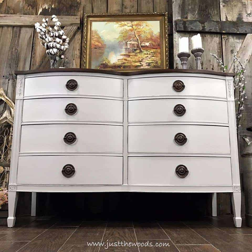 painted dresser ideas, white painted dresser, white painted furniture, painted drexel dresser