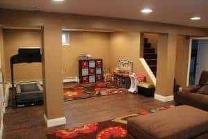 finished-basement-play-area, finished basement before and after, basement makeover ideas