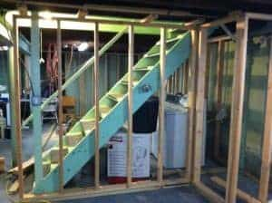frame-closets, how to frame out walls, finishing the basement, building walls