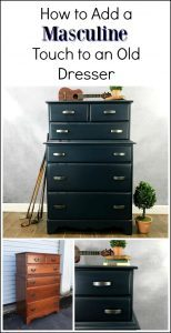 How to Add a Masculine Touch to an Old Dresser by Just the Woods