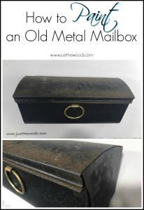 how-to-metal-mailbox, paint mailbox, just the woods, new york