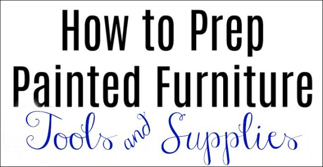 no prep, painted furniture, supplies