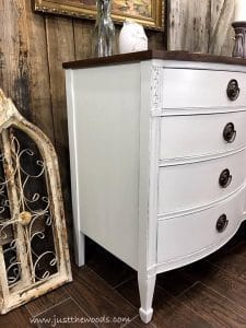 How To Get Farmhouse White Painted Furniture By Just The Woods