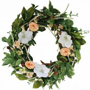magnolia-bloog-spring-wreath, magnolia wreath, spring wreath, new york