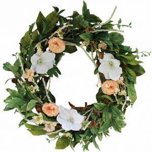 magnolia-bloog-spring-wreath, magnolia wreath, spring wreath, new york