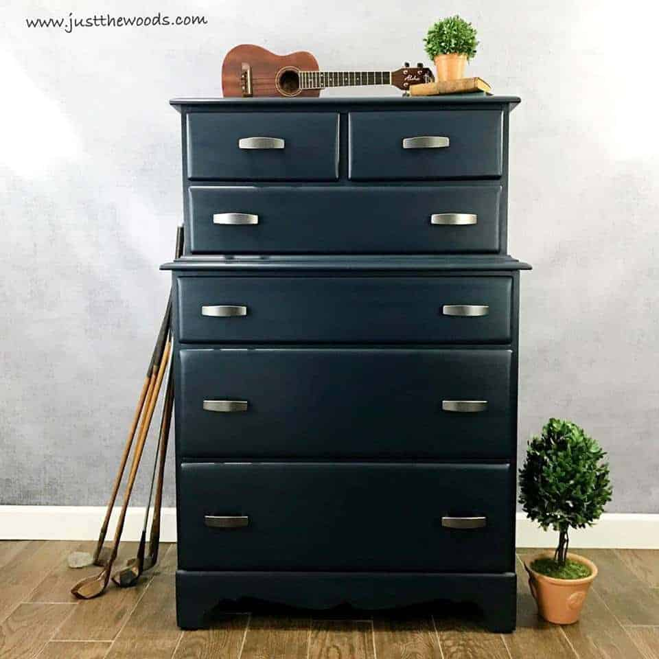 painted dresser ideas, navy blue painted dresser, blue painted dresser, dark blue painted dresser, modern painted dresser