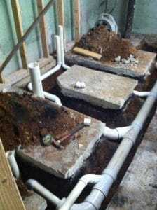 new-water-pipes, installing a bathroom, bathroom pipes